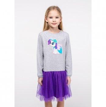 Детское платье Vidoli Серый G-20847W