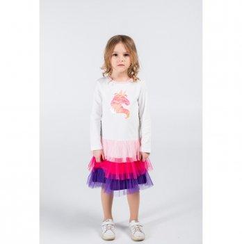 Детское платье Vidoli Молочный G-20855W