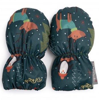 Детские рукавички ДоРечі Темно-зеленый 1946