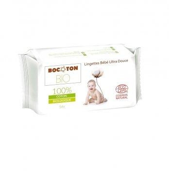 Органические влажные косметические детские салфетки Bocoton Hydra 54 шт