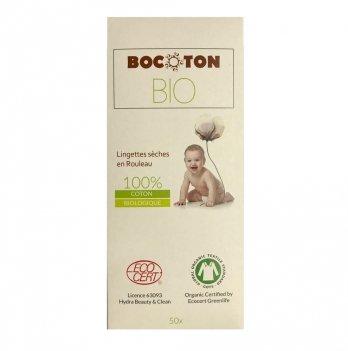 Органические детские салфетки Bocoton Hydra в рулоне 50 шт