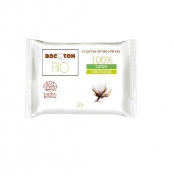 Органические влажные салфетки для снятия макияжа Bocoton Hydra 20 шт