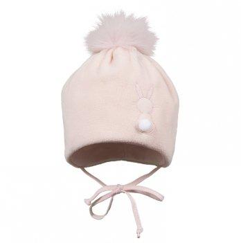 Зимняя шапка для девочки Broel, возраст от 6 до 9 месяцев, арт. HENDI, розовая