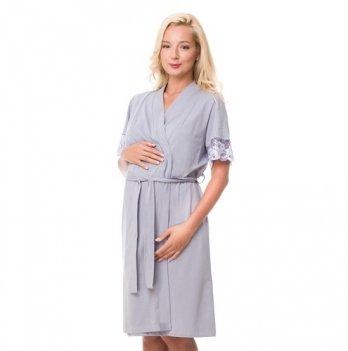 Халат для беременных и кормящих мам DISSANNA 2169