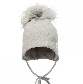 Зимняя шапка для девочки Broel, возраст от 12 до 18 месяцев, арт. ILIADA, серая