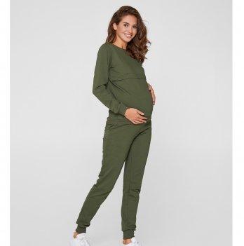 Спортивный костюм для беременных и кормящих мам Lullababe Detroit Хаки