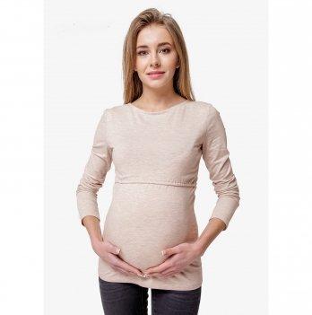 Лонгслив для беременных и кормящих мам Creative Mama, Milky