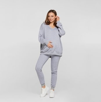Кофта пуловер для беременных Lullababe Liverpool Серый LB06LV118