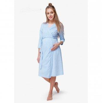 Халат для беременных и кормящих мам Creative Mama, Blue Coton (хлопок)