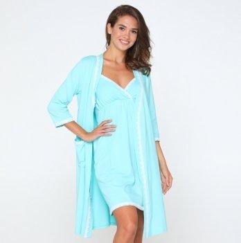 Комплект для кормления ночная сорочка и халат Lullababe Sidney Тиффани