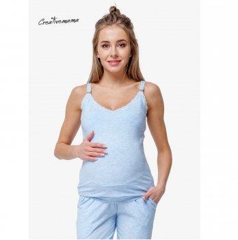Топ для беременных и кормящих мам Creative Mama, BLUE COTON