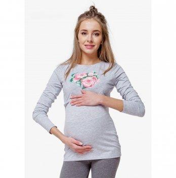 Лонгслив для беременных и кормящих мам Creative Mama, Fleur