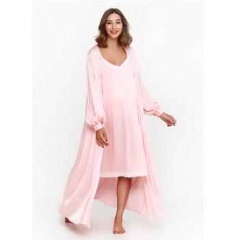 Комплект в роддом Creative Mama халат+ ночная сорочка LA PERLA