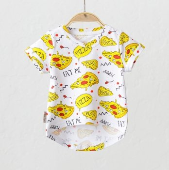 Детская футболка Magbaby Simply Пицца Желтый 0-5 лет