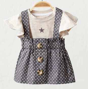 Летний костюм для девочки Magbaby Peri Бежевый/Серый 0-3 года