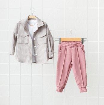 Детский костюм для девочки Magbaby Triple Розовый/Серый 1-5 лет