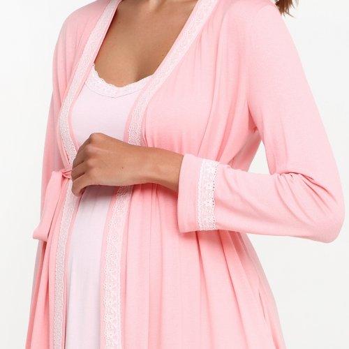 Комплект в роддом Creative Mama халат+ ночная сорочка DOLCE PEACH