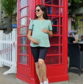 Футболка для беременных и кормления Lullababe Rotterdam Зеленый