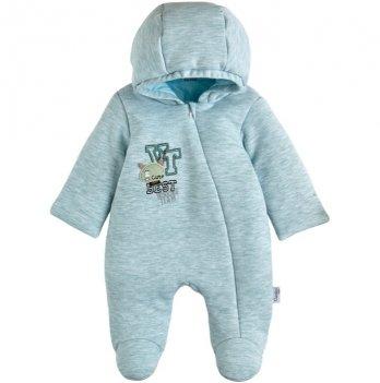 Детский комбинезон для мальчика Garden baby Ментоловый 3-9 мес Интерлок 12093