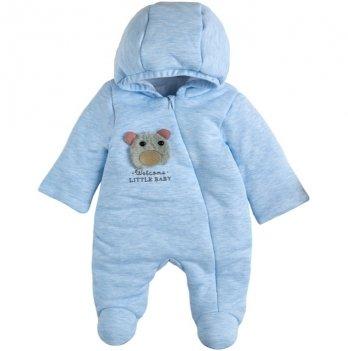 Детский комбинезон для мальчика Garden baby Голубой 3-9 мес Интерлок 12093