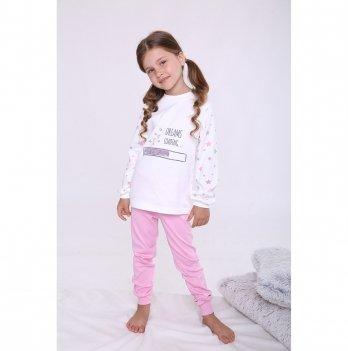 Пижама детская для девочки Модный карапуз Розовый 03-01020