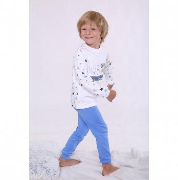 Пижама детская для мальчиков Модный карапуз Голубой 03-01020