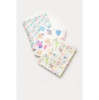 Фланелевые пеленки для новорожденных Модный карапуз 3 шт. 03-01017