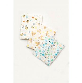 Фланелевые пеленки для новорожденных Модный карапуз 3 шт. 03-01018