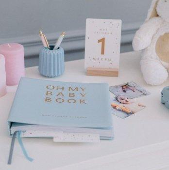 Книга - альбом для новорожденных Oh My Baby Book, для мальчиков