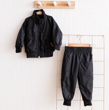 Спортивный костюм из плащевки детский Magbaby Zooty Черный