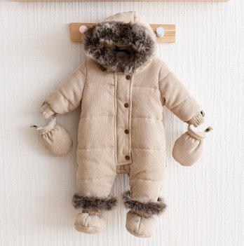 Зимний комбинезон детский Magbaby Line Бежевый
