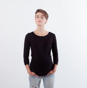 Лонгслив для беременных BOBwear, черный
