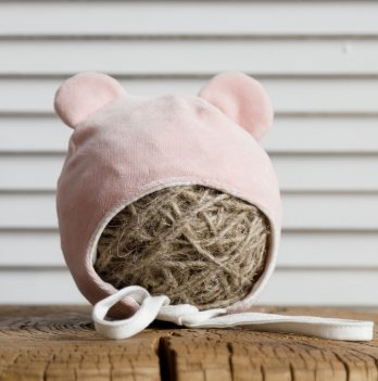 Велюровая шапка с ушками Magbaby Tessera Розовый