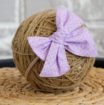 Повязка на голову детская для девочек Magbaby Бантик Фиолетовый
