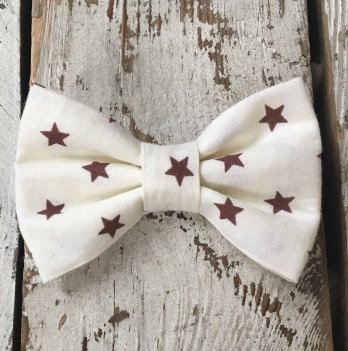 Галстук-бабочка для мальчика MagBaby Коричневые звезды