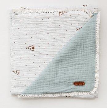 Плед для новорожденных из муслина Magbaby Lint Светло-голубой 85*85 см