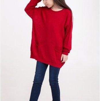 Свитер оверсайз ТМ Lutik с карманами, красный