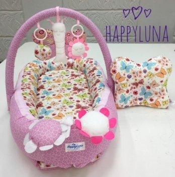 Кокон-гнездышко Happy Luna 0137 Babynest Standart Мотылек