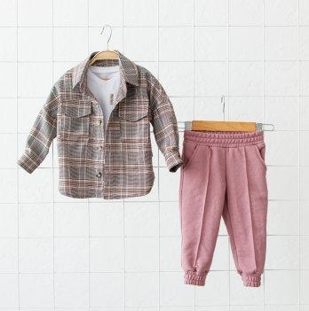 Детский костюм для девочки Magbaby Triple Розовый/Бордовый 1-5 лет