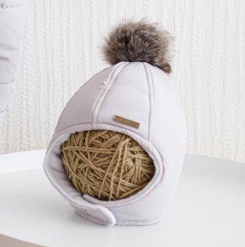 Зимняя шапка детская Magbaby Аляска Светло-серый