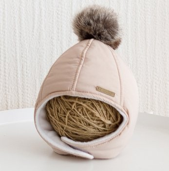 Зимняя шапка детская Magbaby Аляска Бежевый