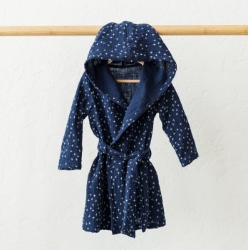 Детский халат из муслина Magbaby Soft Синий 9-24 мес