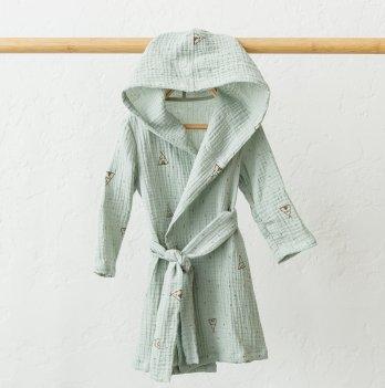 Детский халат из муслина Magbaby Soft Бирюзовый 2-5,5 лет