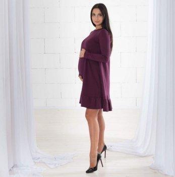 Платье для беременных и кормящих мам MBerry dress трикотажное, бордо