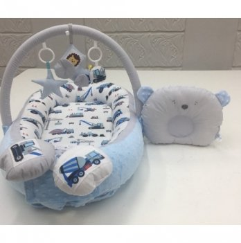 Кокон-гнездышко Happy Luna 0138 Babynest Plush Машинки 2
