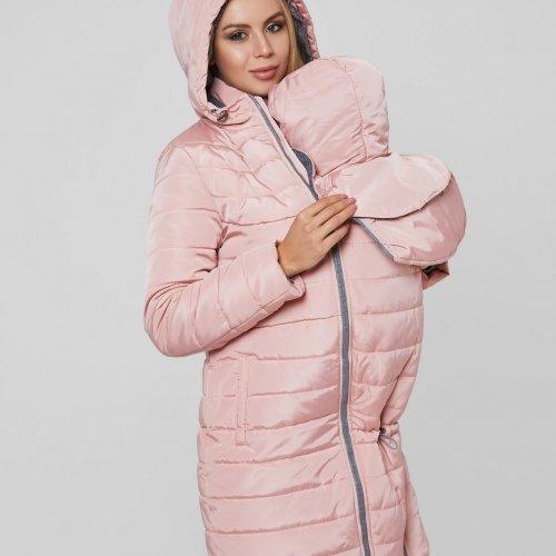 Слингокуртка зимняя 3 в 1 для беременных и кормящих мам Dresden Lullababe, розовая