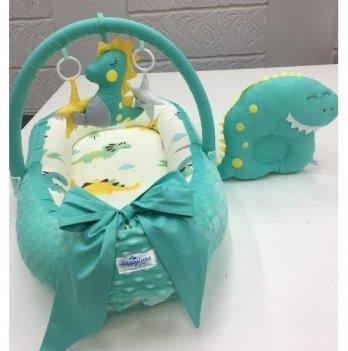 Кокон-гнездышко Happy Luna 0144 Babynest Plush Дракоша