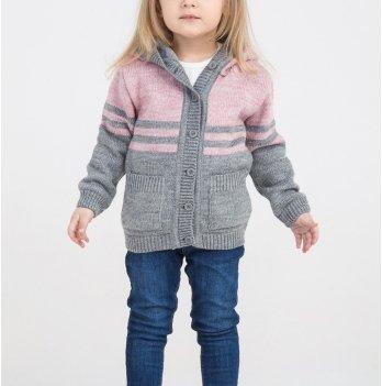 Кофта для девочки ТМ Lutik с карманами и капюшоном, розовая