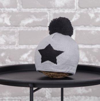 Шапка Star Magbaby Серый Черный 1-2 года