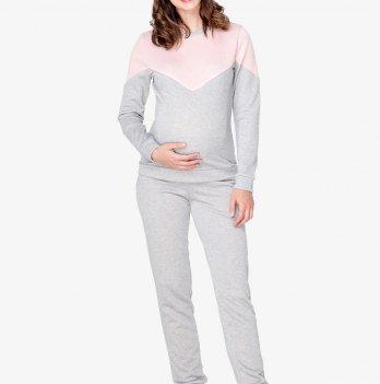 Костюм для беременных и кормящих мам Creative Mama, Enjoy (футер серый с начесом) Размер XL